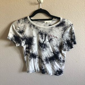 Pacsun LA Hearts cropped T-shirt